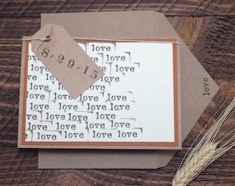 Handmade Rustic Love Save the Date: Custom Colors