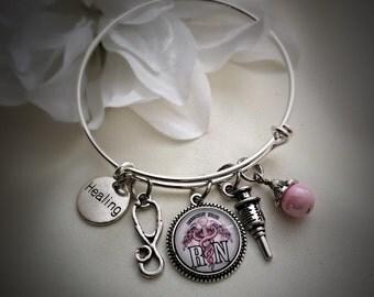 Registered Nurse, RN Bangle Bracelet
