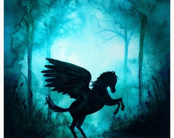 Magical Pegasus A4 Print