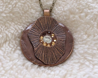50mm Copper Polymer Clay Pendant
