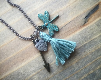 The Dragonfly: kids jewelry, necklace, fall fashion