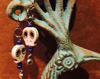 Skull Earrings, Sugar Skull earrings, Day of the Dead earrings