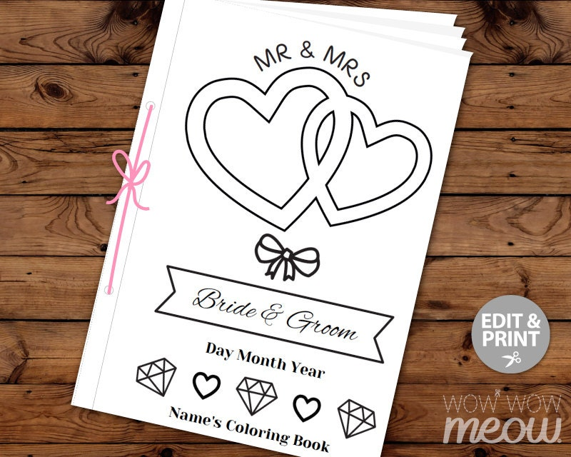 Wedding Coloring Book Kid Activity Colouring Page