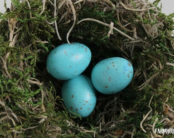 Blue Bird Eggs - Set of 3