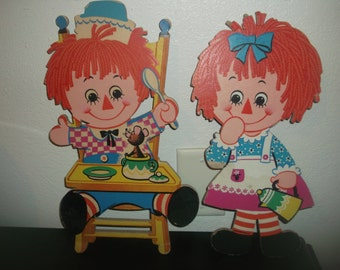 Vintage Baby Raggedy Ann & Andy Wall Hangings CUTE!!