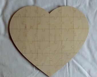 Wooden puzzle for wedding and birthdays as a game or to present a gift together