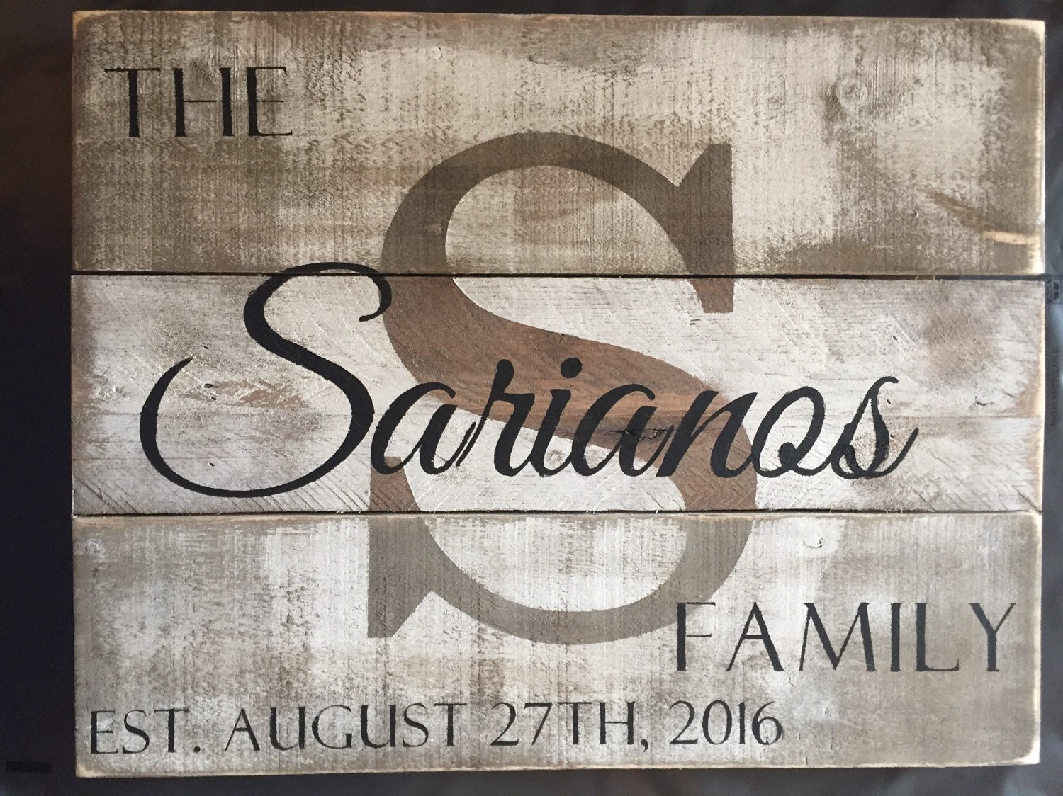 Custom Wood Name Sign Personalized Wedding Gift Pallet Last
