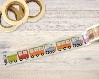 Masking Tape with little trains Washi Tape