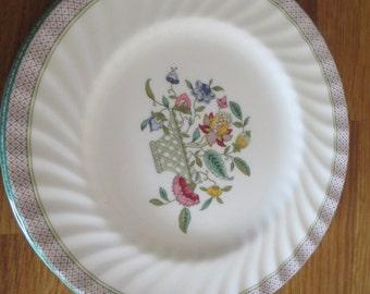 minton side plate , haddon hall trellis design  ref 1