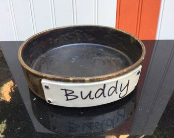 Personalised made to order dog / cat bowl