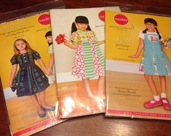 3 Modkid sewing patterns Abigail Addison and Piper