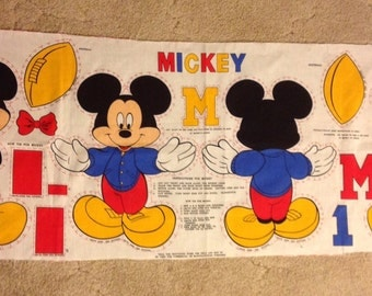 Disney Mickey Mouse football fabric cut and sew