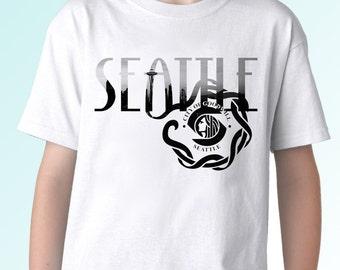 Seattle kids shirt etsy for Seattle t shirt printing