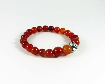 Fire Agate Stretch Bracelet