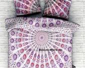 AEM 022 Dorm decor Mandala Bedspread Queen size 3 pcs.