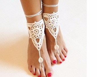 AK109 Barefoot Sandals Crochet Cotton