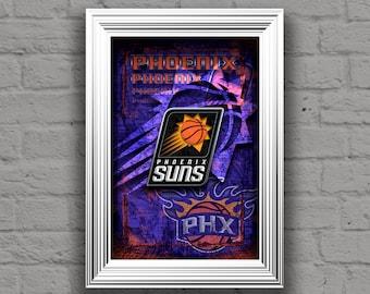 Phoenix Suns Poster, Phoenix Suns Poster, NBA, Basketball, Phoenix Suns Print, Phoenix Arizona Artwork, Phoenix Suns Basketball, Arizona AZ
