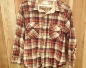 Vintage Light Brown Flannel