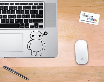 Big Hero 6, Baymax Inspired, BayMax Decal ,Baymax sticker, Baymax MacBook Pro Decal, MacBook Pro, MacBook Decal,Macbook Sticker,Gift,Geekery