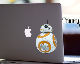 BB-8, BB8 Decal, BB8 Sticker, Star wars, Star wars Decal, BB8 Macbook Decal, BB8 Macbook Sticker, Star wars BB-8