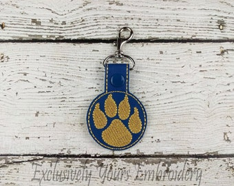 Paws with Claws Keychain - School spirit - Team Mascot - Bag Tag - Small Gift - Gift for Her - Thank You Gift - Bag Accessory - Zipper Pull
