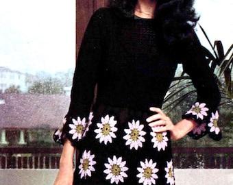 Crochet Dress Pattern ... Ladies Summer Hostess Dress ... PDF Crochet Pattern ... Party, Dinner Dress ... Instant Download Pattern
