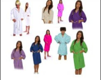 Kids Waffle Robes Great for  Bridal Party... Monogramed free !