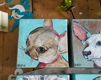 Chihuahua .puppy .dog. original painting