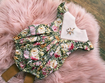 Sz0 Ready Made Floral Romper