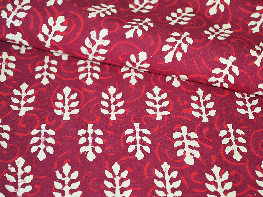 Block printed cotton fabric soft cotton by yard hand for Printed cotton fabric