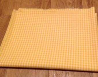 1 yard yellow gingham