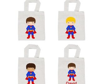 Superhero party favor bags , superhero favor  bags, superhero personalized  favor bag ,  12 party favor bags