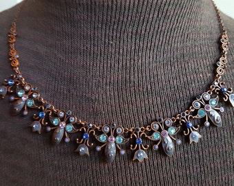 Avon Copper Tulip Necklace