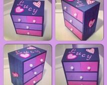 Pink jewelry box Girls jewelry box Customized jewelry box Children's personalized jewelry box Kids jewelry Girls jewelry Personalized toy