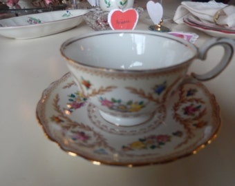 ENGLAND CROWN STAFFORDSHIRE Teacup and Saucer Set