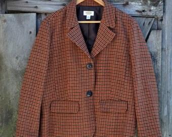 Talbots Wool Houndstooth Blazer