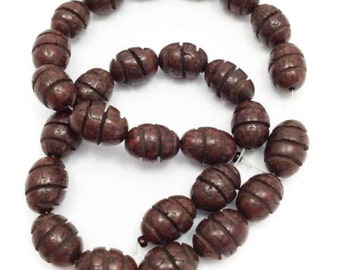 Salwag, oval, Brown, 14mm, 1 strand, 28 PCs, SA
