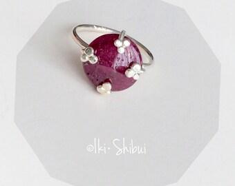 Ruby Hanakotoba Ring