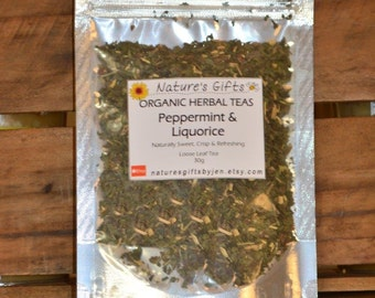 Peppermint & Liquorice - Organic Herbal Tea