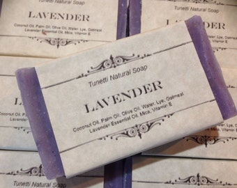 Lavender Natural Homemade Soap, Handmade soap, Natural Soap, Cold Process Lye Soap