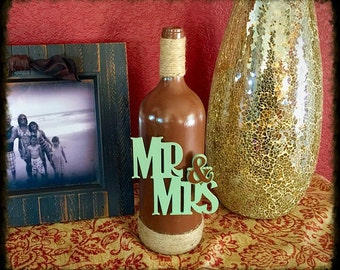 Mr & Mrs Wine Bottle