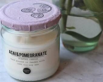 ACAI & POMEGRANATE Eco Soy Candle// 300 ml // Doftljus