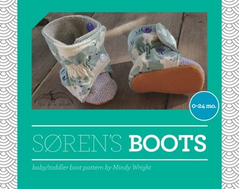 Soren's Baby and Toddler Boots Sewing Pattern