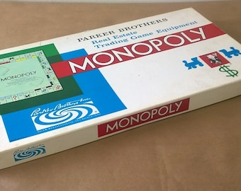 1972 Monopoly Game Well Used