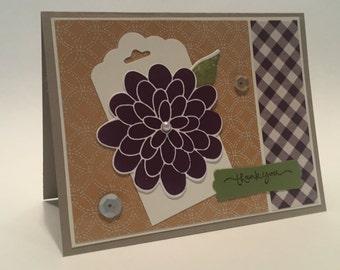 Special Handmade Autumn Thank You Card!