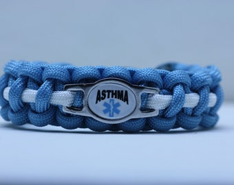 Medical Alert Asthma Paracord Bracelet