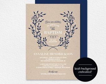 Baptism Invitation, Baptism Invitation Girl, Baptism Invitation Boy, Baptism Invitation Printable, Communion, PDF Instant Download #BPB296