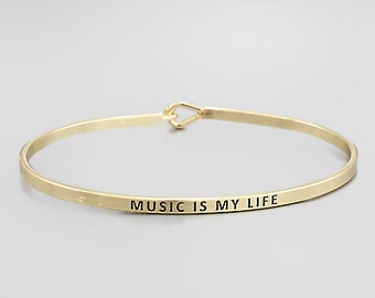 Music Is My Life Bangle