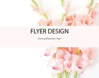 Custom Flyer Design - Flyer Design - Graphic Design - Business Flyers