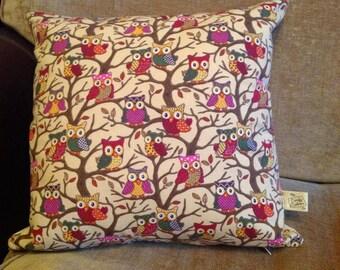 Owl pattern cushion